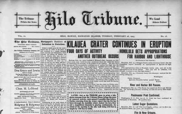An example of a newspaper front cover, showing use of a top level heading, subheadings and paragraphs.