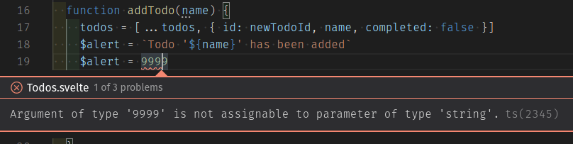 Todo Type object property complete should be completed