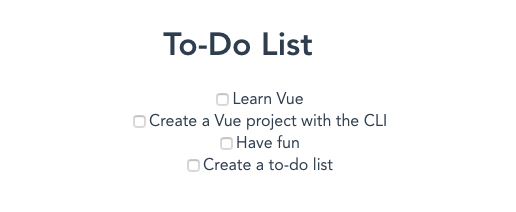 The app with a list of todo items rendered.