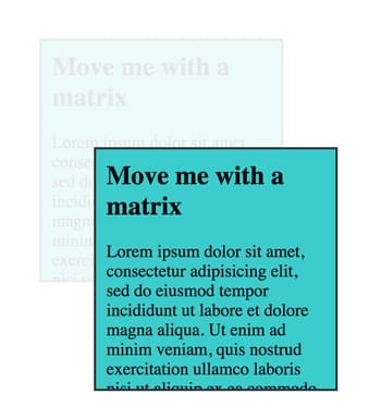 An example of matrix translation